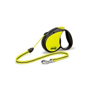 Flexi-Neon-Retractable-Dog-Leash-Cord-16-ft-Medium-BlackNeon-0
