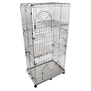 IRIS-3-Tier-Wire-Pet-Cage-Gray-0