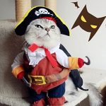 IdepetTM-New-Funny-Pet-Clothes-Caribbean-Pirate-Dog-Cat-Costume-Suit-Corsair-Dressing-up-Party-Apparel-Clothing-for-Cat-Dog-Plus-Hat-M-0-0