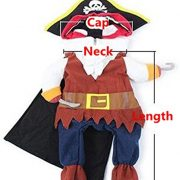 IdepetTM-New-Funny-Pet-Clothes-Caribbean-Pirate-Dog-Cat-Costume-Suit-Corsair-Dressing-up-Party-Apparel-Clothing-for-Cat-Dog-Plus-Hat-M-0-2