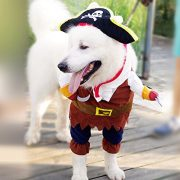 IdepetTM-New-Funny-Pet-Clothes-Caribbean-Pirate-Dog-Cat-Costume-Suit-Corsair-Dressing-up-Party-Apparel-Clothing-for-Cat-Dog-Plus-Hat-M-0-5