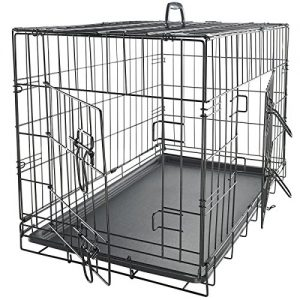 OxGord-24-Inch-Folding-Metal-Pet-Crate-with-Double-Door-and-Divider-0