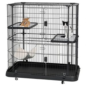 Prevue-Pet-Products-7501-Deluxe-Cat-Home-with-3-Levels-Black-0