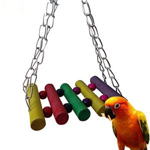 Vktech-5pcs-Pet-Bird-Parrot-Parakeet-Budgie-Cockatiel-Cage-Hammock-Swing-Toy-Hanging-Toy-Style-A-0