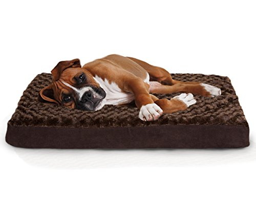 Furhaven-Orthopedic-Mattress-Pet-Bed-Large-Chocolate-for-Dogs-and-Cats-0